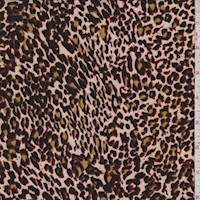 *3 YD PC--Pale Peach Mini Cheetah ITY Jersey Knit