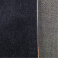 *3 YD PC--Deep Navy Blue Cotton Slub Japanese Selvedge Denim