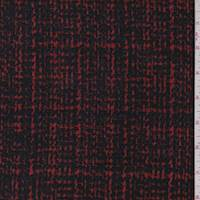 *1 3/8 YD PC--Black/Red Boucle Jacketing