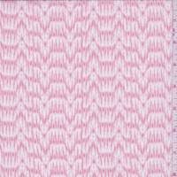 Rose Pink Ikat Wave Georgette