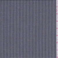 *4 1/4 YD PC--Grey/Charcoal/Blue Herringbone Stripe Polyester Suiting