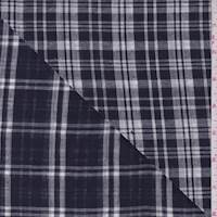 *3 YD PC--Dark Navy/White Check Double Face Gauze
