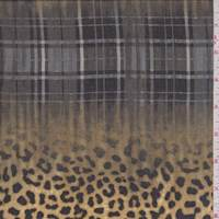 Camel/Charcoal Cheetah Plaid Georgette