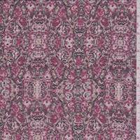 Berry Red Mottled Moroccan Georgette