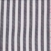 *3 1/4 YD PC--White/Black Stripe Crepon
