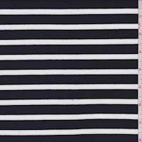 *2 YD PC--Black/White Stripe Jersey Knit