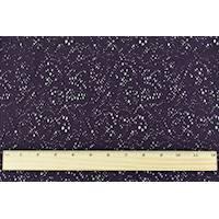 *1 YD PC--Eggplant Purple Dot Swirl Lace Knit