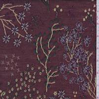 Maroon Jacquard Floral Double Knit
