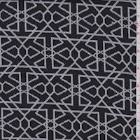 Black/White Geo Sketch Jacquard Double Knit