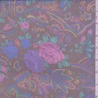 Slate Black/Magenta Floral Chiffon