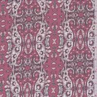 Begonia Pink Paisley Stripe Chiffon