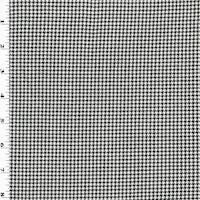 *3 3/8 YD PC--Black/White Houndstooth Suiting