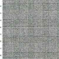 *2 3/8 YD PC--Black/White Wool Glen Plaid Jacketing