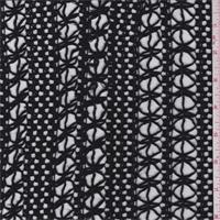 *7/8 YD PC--Black Macrame Lace