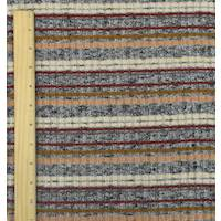 *4 YD PC--Brown/Black/Beige Stripe Rib Knit