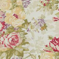 *5 YD PC--Beige/Red/Multi P Kaufmann Floral Print Canvas Decor Fabric