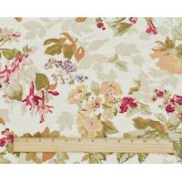 *5 YD PC--Beige/Red/Multi P Kaufmann Floral Print Canvas Decor Fabric