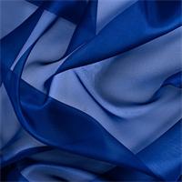 *6 YD PC--Dark Blue Silk Organza