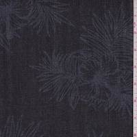 Dark Navy Hibiscus Denim