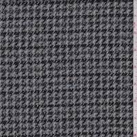 *3 1/8 YD PC--Pewter/Blue Houndstooth Wool Coating