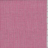 Red Gingham Check Cotton Blend