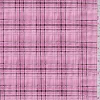 Bubblegum Pink Plaid Pinwale Corduroy