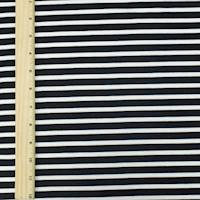 *7/8 YD PC--Black/White Stripe Knit Jersey