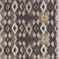 Black/Tan Ikat Diamond Chiffon