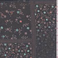 Black/Mocha Mini Floral Patchwork Georgette