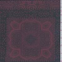 Maroon/Black Medallion Tile Georgette