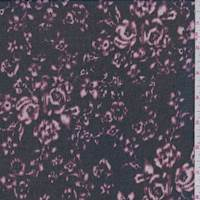 Black/Plum Mottled Floral Georgette