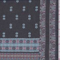 Black/Rose Medallion Block Georgette