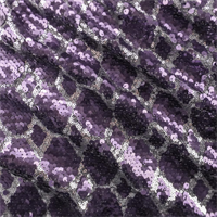 Grape Purple/Silver Diamond Sequin Mesh