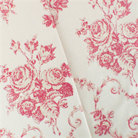 *10 YD PC--Red/Ivory Rose Jacquard Home Decorating Fabric