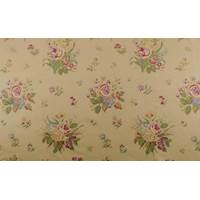 *1 YD PC--Designer Cotton Beige Multi Floral Print Decorating Fabric