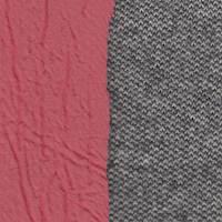 *3 5/8 YD PC--Grey Tweed Look Wool Blend/Bonded Red Backing