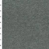 *1 YD PC--Gray Melton Wool Blend Texture Twill Jacketing