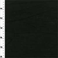 *1 YD PC--Black Wool Slub Jersey