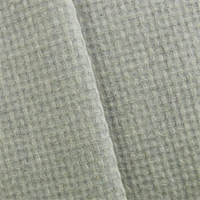 *3/4 YD PC-Grey Wool Blend Basket Woven Coating