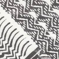 *3 1/2 YD PC--Ivory/Black Print Silk Chiffon