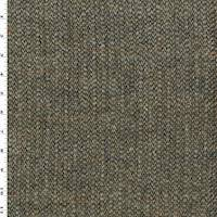 *1 1/2 YD PC--Brown/Beige/Multi Wool Texture Dobby Jacketing
