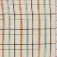 Pale Yellow Plaid Cotton Gauze