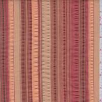 Sienna/Orange Seesucker Stripe Cotton