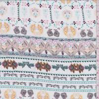 White/Mint/Pink Novelty Stripe Rayon Challis