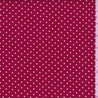 Cherry/White Dot Cotton