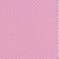 Creamy Pink/White Dot Cotton