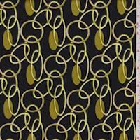 Black/Gold Oval Link Corduroy