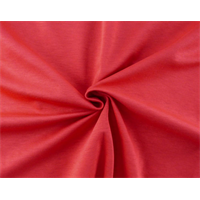 *2 3/8 YD PC--Red Slub Double Knit Jersey