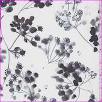 *5 7/8 YD PC--Porcelain Modern Floral Silk Chiffon