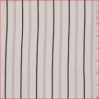 Canvas White Stripe Silk Crepe de Chine